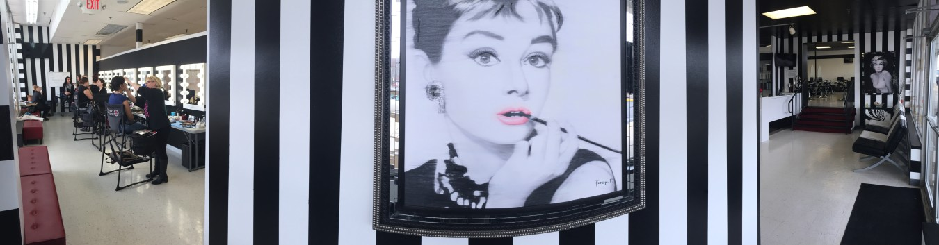 Audrey Hepburn black and white photo in RFBS.