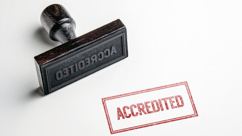 """""""accredited"""" stamp"""